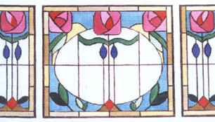 Antique Stained Glass Canvas